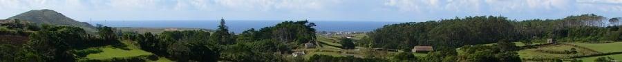 Panoramabild der Landschaft von Santa Maria