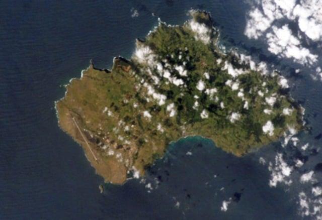 Santa Maria aus der Luft gesehen
