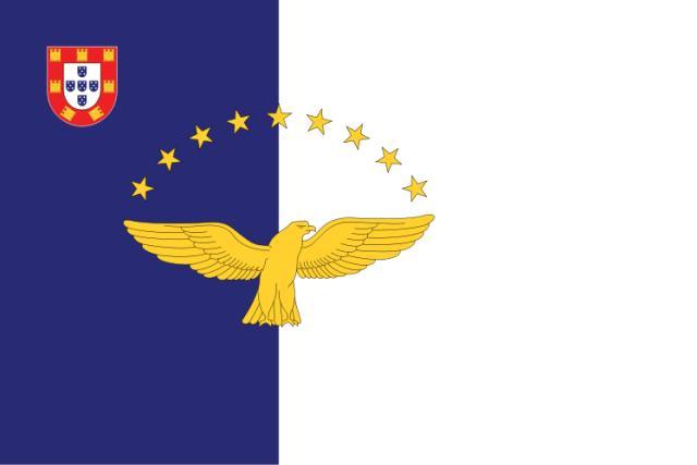 Die Fahne der Azoren
