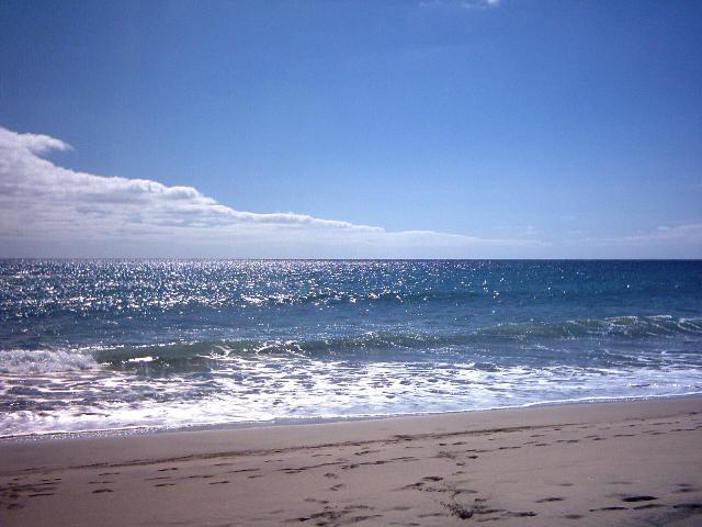 Der Sandstrand von Praia Formosa
