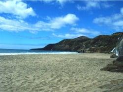 Blick über den Strand von Praia Formosa