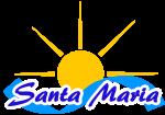 Santa Maria Schriftzug mit Sonne und Welle