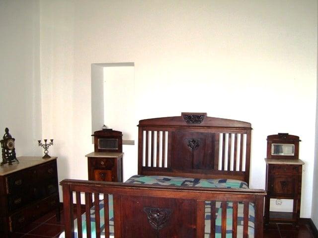 Das eingerichtete Schlafzimmer oben